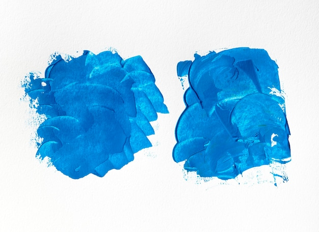 Blue paint stains abstract art
