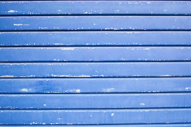 Blue painted wood planks texture background
