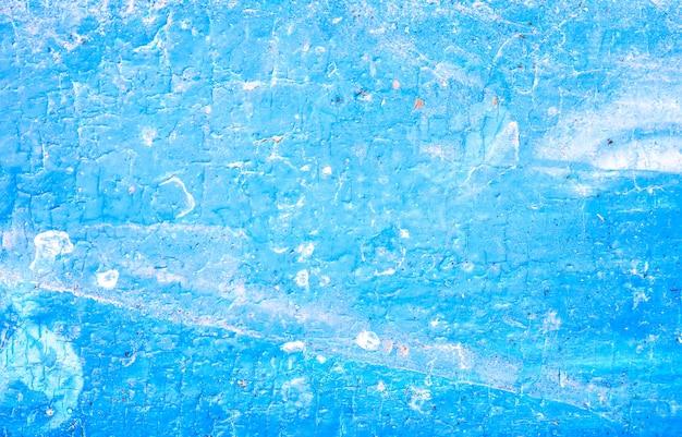 青く塗られた木の質感。ヴィンテージの背景。