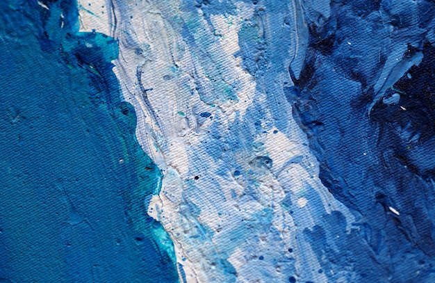 Blue painting natural abstract background and texture.