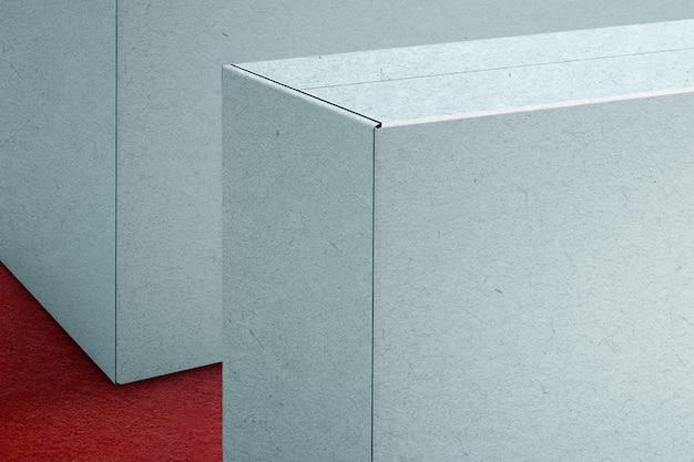 디자인 공간이 있는 파란색 종이 상자 포장