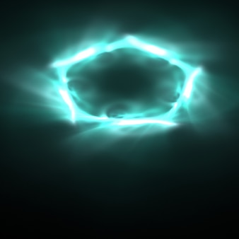 Синий обои огни в форме пятиугольника