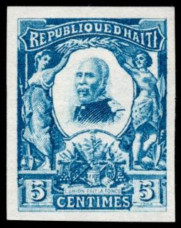 Blue pierre nord alexis stamp