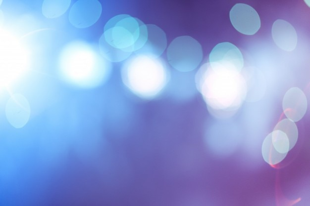 Blue and pink abstract bokeh lights