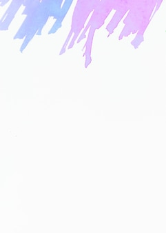 Blue and pink brush stroke on top of white background
