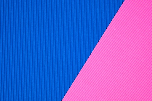 Blue and pink corrugated papers