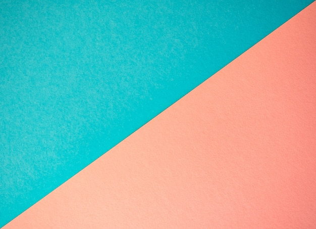 Blue and pink paper background. flat lay design
