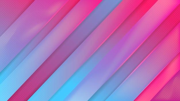모션 효과 프리미엄 벡터와 블루 핑크 빛나는 스포츠 현대 추상적 인 배경