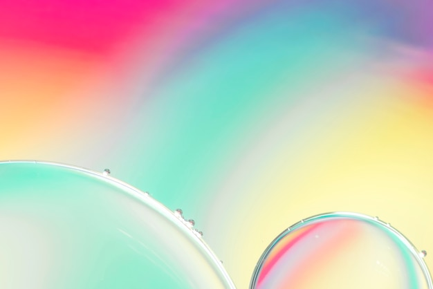 Blue pink and yellow abstract background with bubbles