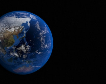 Blue planet in the universe