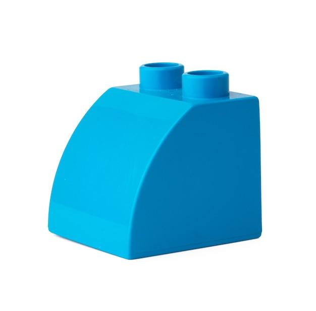 흰색 절연 파란색 플라스틱 빌딩 블록