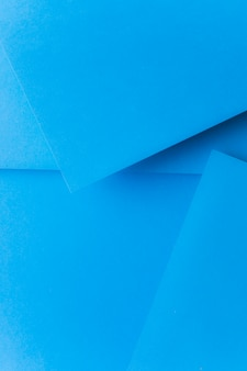 Blue pop up abstract paper background