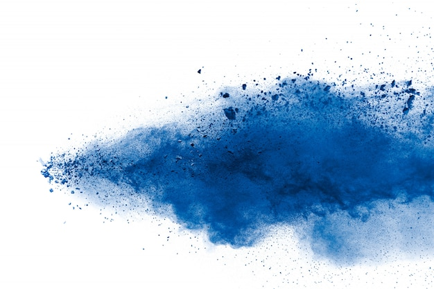 Blue powder explosion