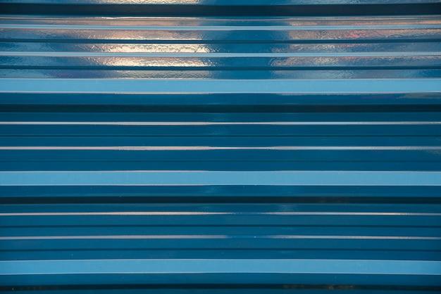 Blue profiled sheeting