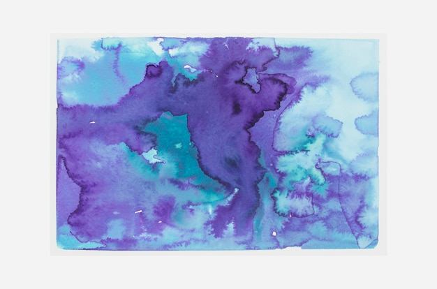 Blue and purple watercolor stain background