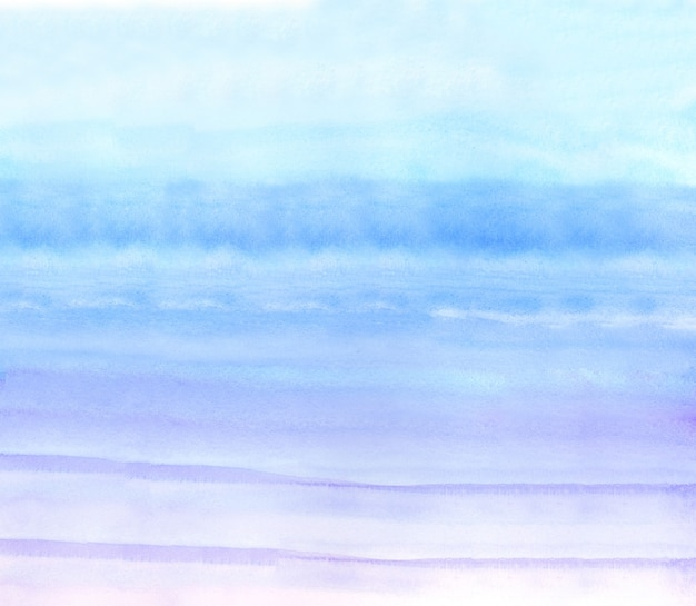 Blue and purple watercolour background, watercolour painting soft textured on wet white paper background