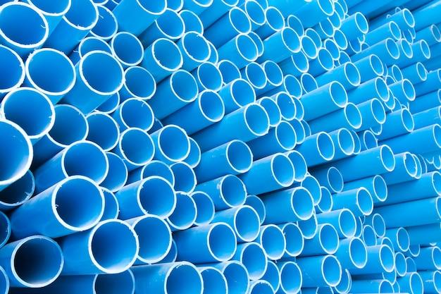 Синие трубы пвх