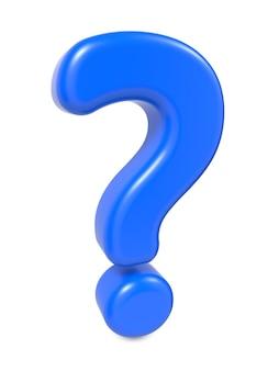Синий вопросительный знак, изолированных на белом фоне.