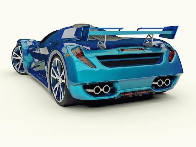 블루 레이싱 컨셉 카 3d 렌더링