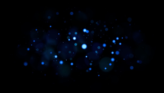 실제 렌즈 플레어가있는 파란색 실제 백라이트 먼지 입자