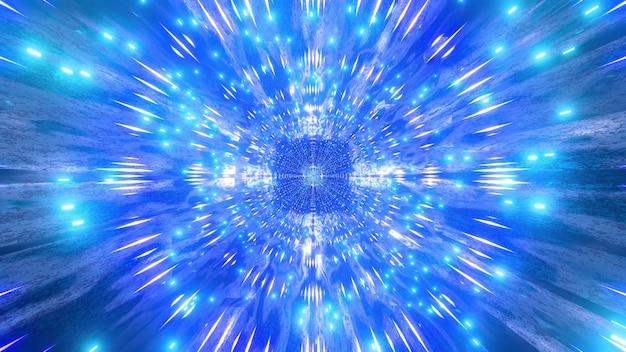파란색 빨간색 4k uhd 빛나는 공간 입자 3d 그림