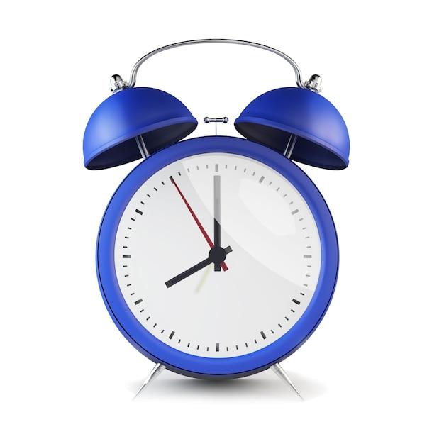 블루 복고풍 스타일의 알람 시계