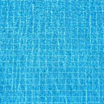 Blue rippled water background in swimming pool