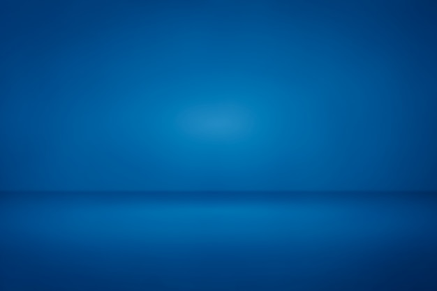 Blue room studio light gradient background us for backdrop