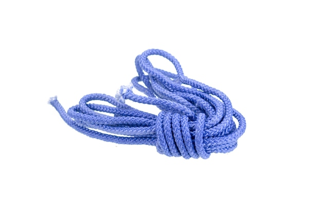 Blue rope isolated with clipping path