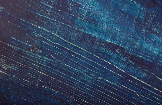 나무 판의 블루 소박한 우디 배경