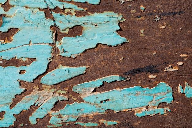 푸른 녹슨 표면