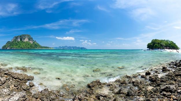 Blue sea krabi thailand
