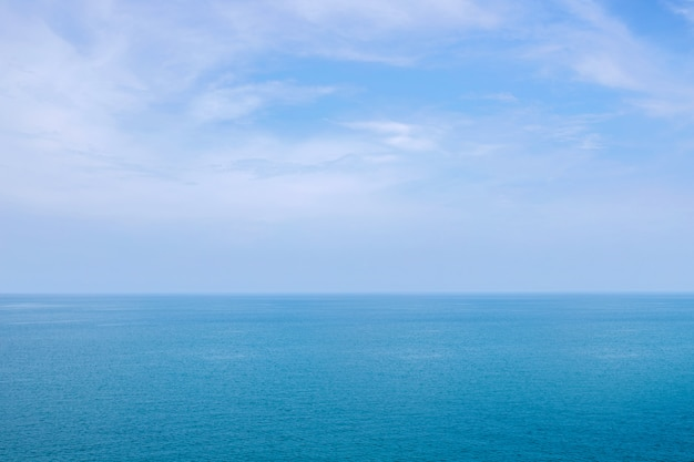 Blue sea or ocean horizon