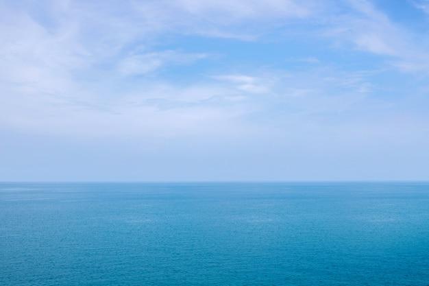 푸른 바다 또는 바다 수평선
