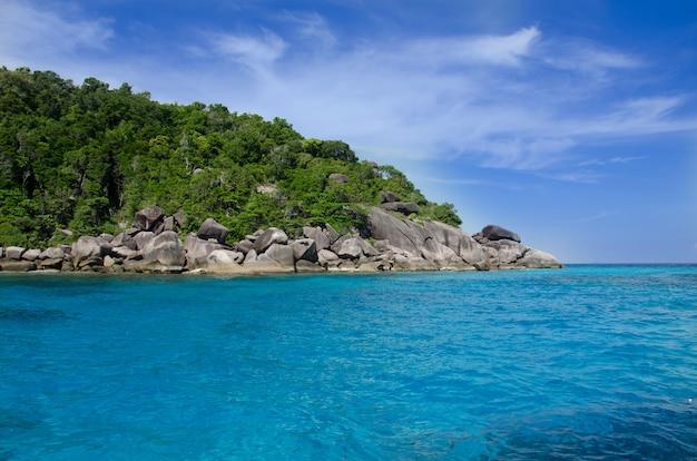 Blue sea similan