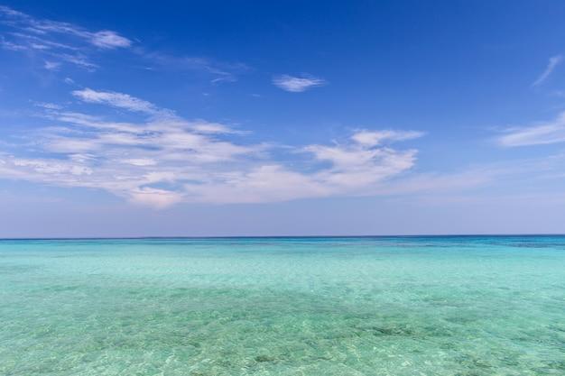 푸른 바다 파도 표면