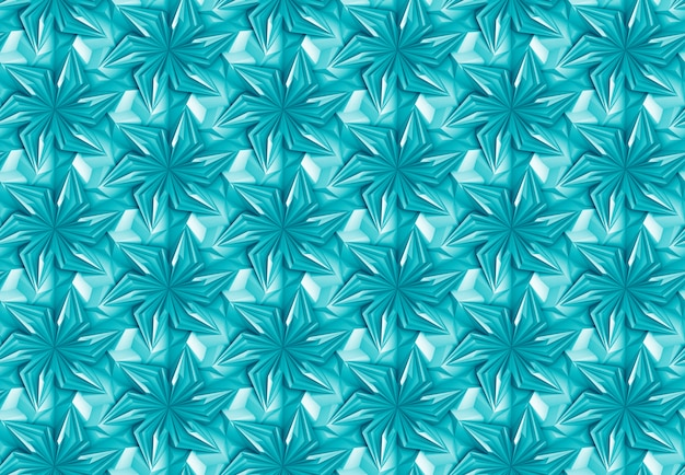 Blue seamless pattern geometric with rotating elements