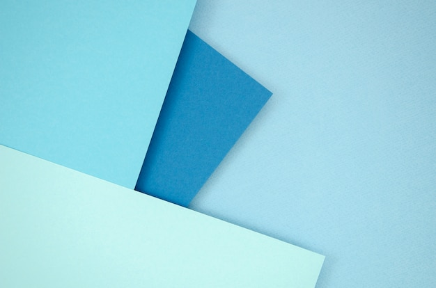 다각형 종이 디자인의 푸른 색조