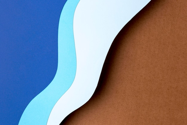 Blue shades paper shapes design