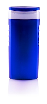 블루 샴푸 병. 외딴