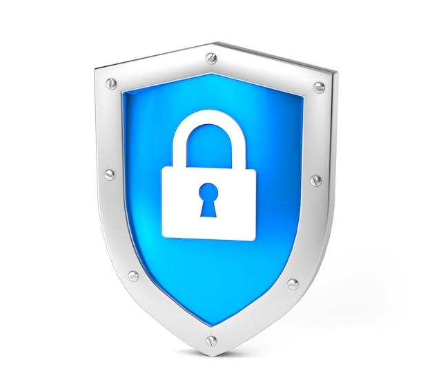 ブルーシールドとゴールドロックコンセプト分離された情報またはデータの二重保護プライバシー