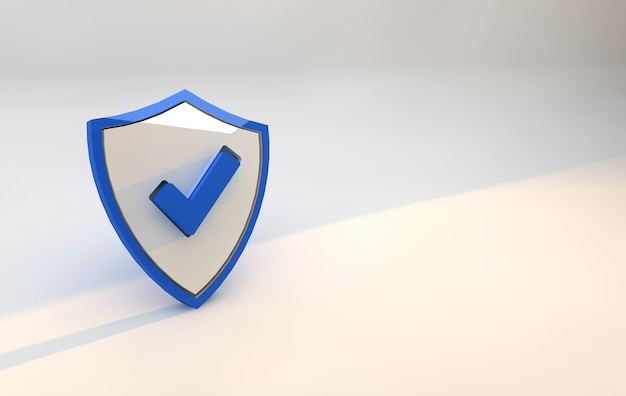 Blue shield security. cybersecurity and digital data protection