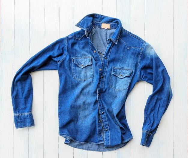Blue shirt jeans