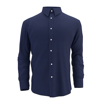 Синяя рубашка на белом, изолированные