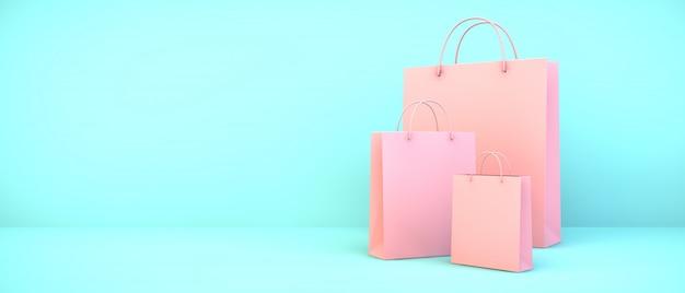 Синие сумки для покупок