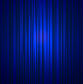 Blue silk curtain background