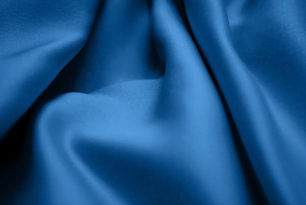 Blue silk drapery fabric