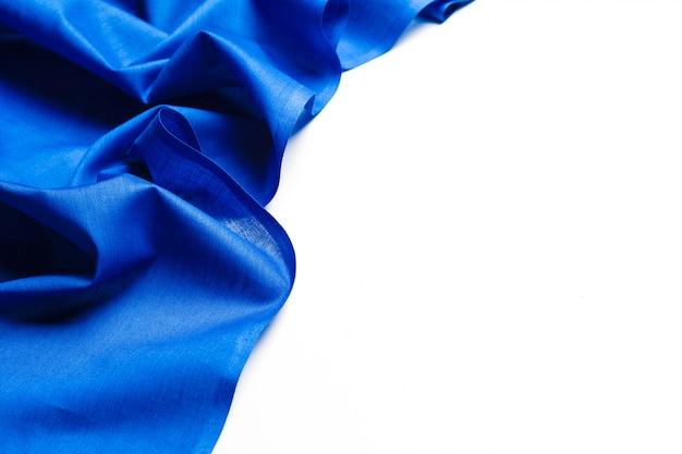 Blue silk fabric background