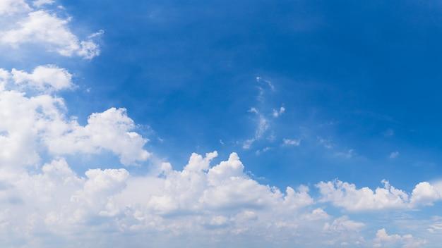 青い空と雲のパノラマ背景画像
