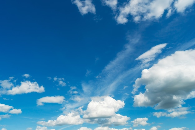 Голубое небо и белые облака. bfluffy облако на фоне голубого неба
